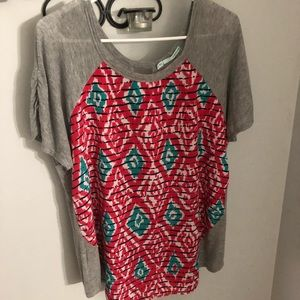 Maurice's XL Aztec Short Sleeve Top